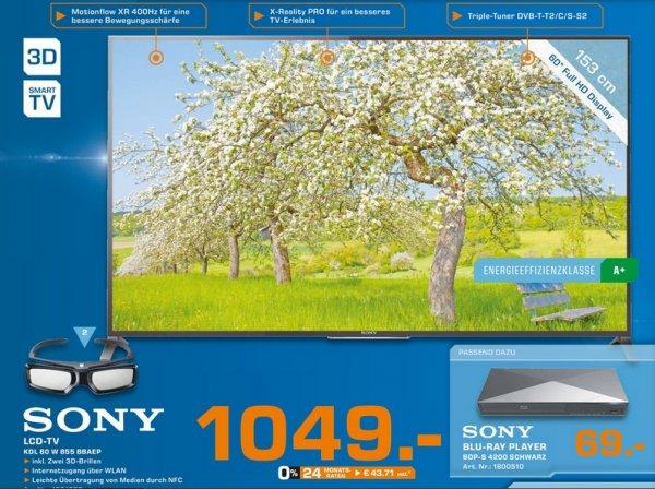 [Lokal Saturn Bremen-Habenhausen] Sony KDL-60W855B für 1049€ (idealo 1379€)
