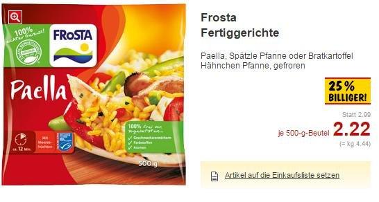 [Lokal HH] Frosta Fertiggerichte für 2,22€ bei Kaufland