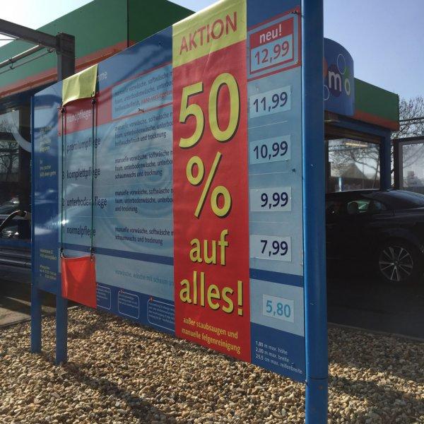 [imo Waschstraße, lokal Mönchengladbach] 50 % auf alle Autowäschen