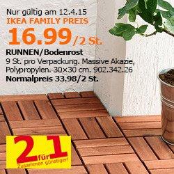 IKEA Bln Tempelhof 2xRunnen Bodenfliese 16.99€