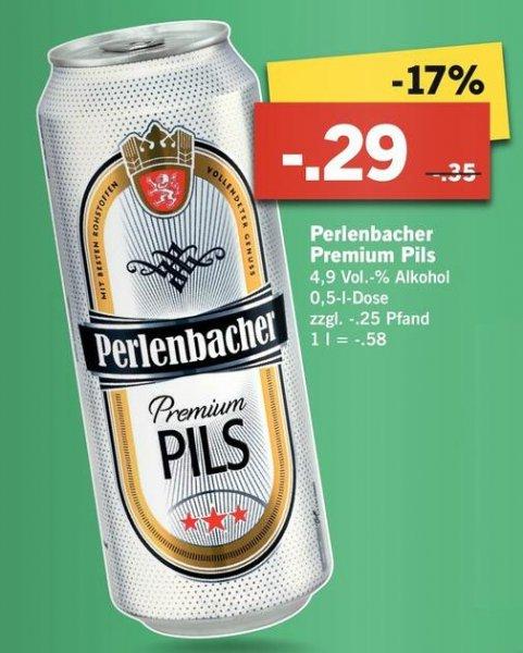[Lidl] 0,5l Perlenbacher Premium Pils NUR 0,29€ ab 16.04.15