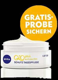 Nivea Q10plus Anti-Falten Schutz Tagespflege Gratisprobe