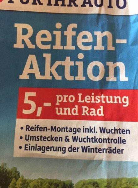 [Lokal] Bielefeld: Reifenmontage für 5 Euro bei AutoPlus