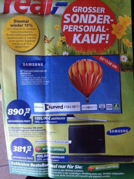 [Offline] Samsung UE55J6350 LED Curved 55 Zoll 2015er Serie für 890,90€ am 30.04 - 02.05 @real Perso