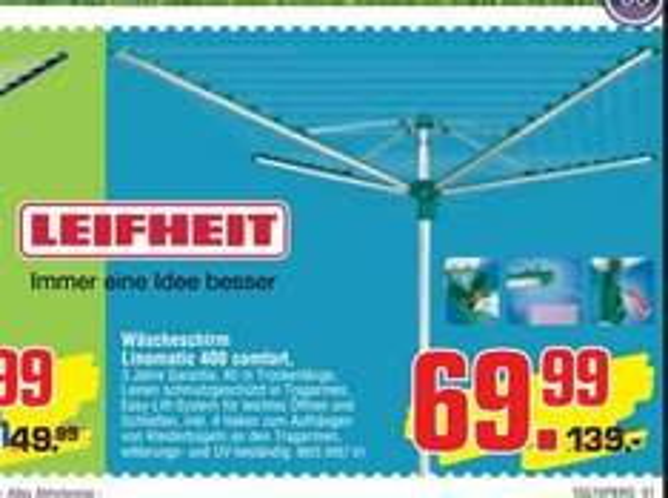 Leifheit Linomatic 400 Comfort, Bauhaus TPG 61,59 €