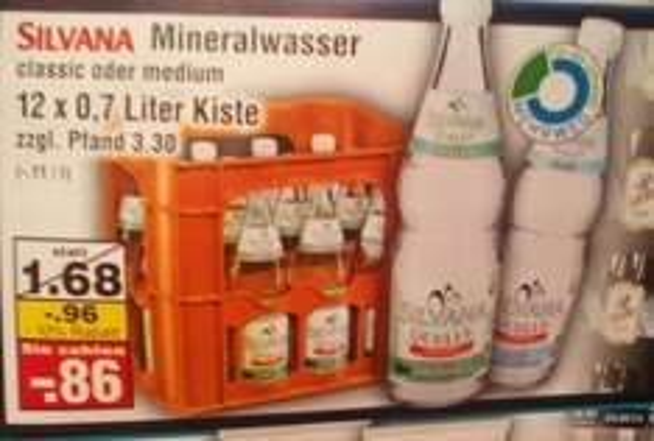 [Netto Marken-Discount - lokal : Dessau-Roßlau] 10% auf alles nach Wiedereröffnung z.B Silvana Mineralwasser - Medium oder Classic 12x0,7L für 0,78€