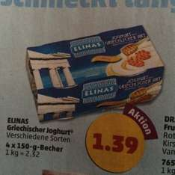 [penny] Griechischer Joghurt fuer 99cent/4-er pack dank angebot + scondoo
