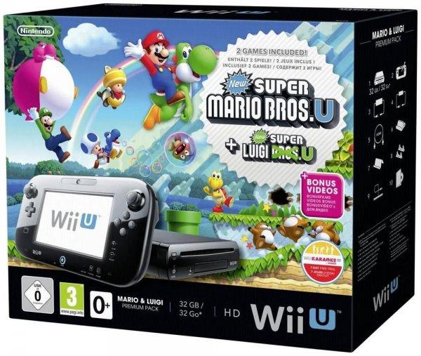 Nintendo Wii U Premium Pack inkl. Mario & Luigi Bundle EU 32GB schwarz für 249€ @eBay