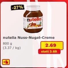 [Netto MD + reebate] Nutella für 2,36€ / kg