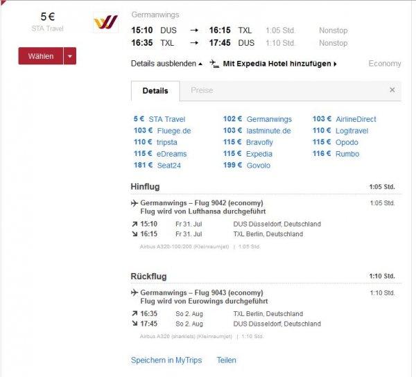 Innerdeutsche & europäische Flüge mit Lufthansa / Eurowings / Germanwings Hin und Zurück ab 4 Euro!