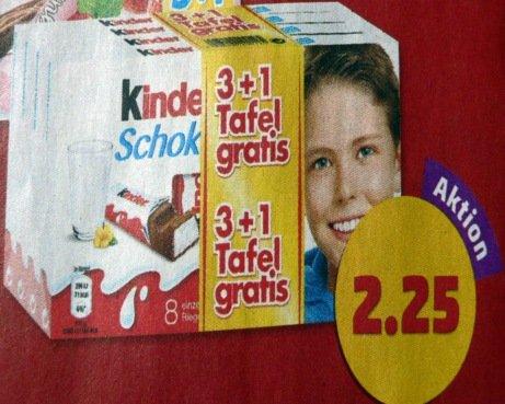 [Penny] Kinderschokolade & Yogurette 3+1 (0,56€ je Tafel)
