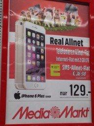 Vodafone All-Net Flat mit Iphone 6 Plus (128gb)