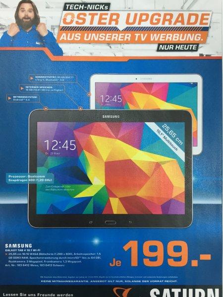 (Saturn Bundesweit TV-Werbung) Samsung Galaxy Tab 4 10.1 WiFi 16GB ab 194€ Tagesangebot am Montag den 13.04.2015