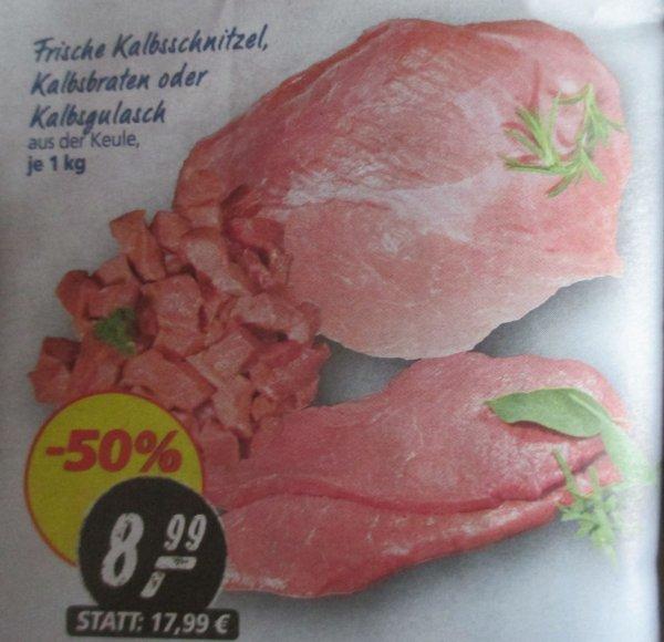 REAL: Kalbsschnitzel 8,99/Kg