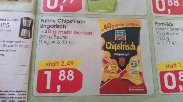 (Lokal Minipreis/Combi)Funny Frisch..Chipsfrisch Ungarisch..290g Beutel für 1.88€