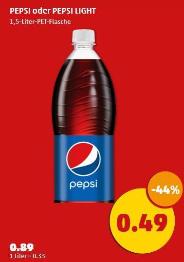 Pepsi / Pepsi light / Mirinda / Seven up 1,5 L für 0,49€ @Penny
