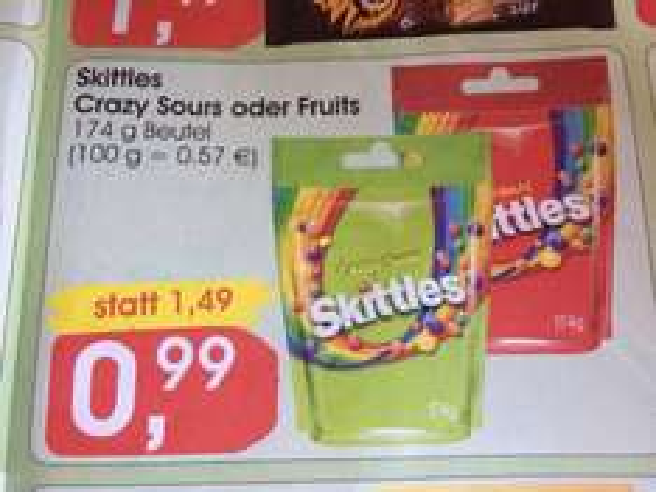 [Lokal] Skittles 174gramm - 0.99€ @ Jibi ab 13.04.