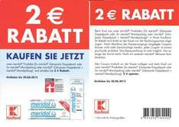[Meridol – Kaufland] 2 Euro Rabatt Coupon für Meridol