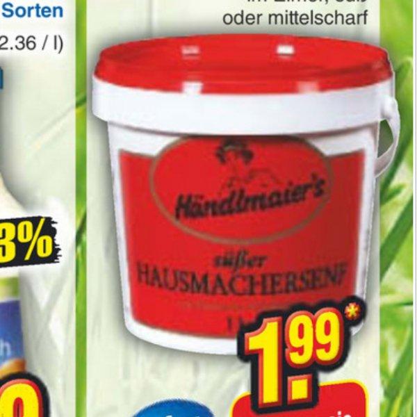 Händlmaier's Senf 2 Sorten 1 kg (süß oder mittelscharf) (bundesweit Netto)