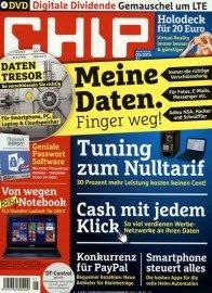 6x CHIP mit DVD als Halbjahresabo für 30€ mit 25€ ShoppingBon