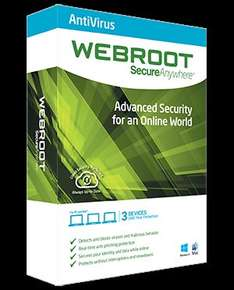 [Windows] 1 Jahr Webroot SecureAnywhere AntiVirus 2015 @SharewareOnSale [statt 34,99€)