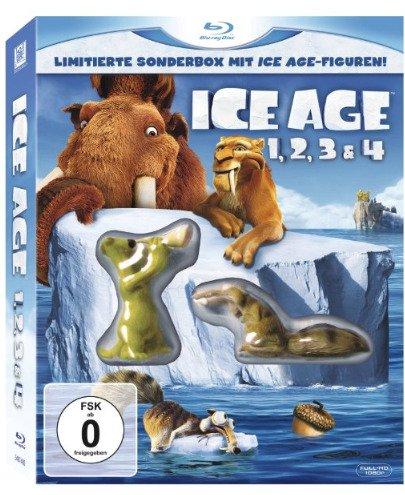 [Amazon Prime] Ice Age 1, 2, 3 & 4 Limitierte Sonderbox (Blu-ray) mit 2 Ice Age Figuren für 18,36€!*Update* jetzt nur noch 17,60€!