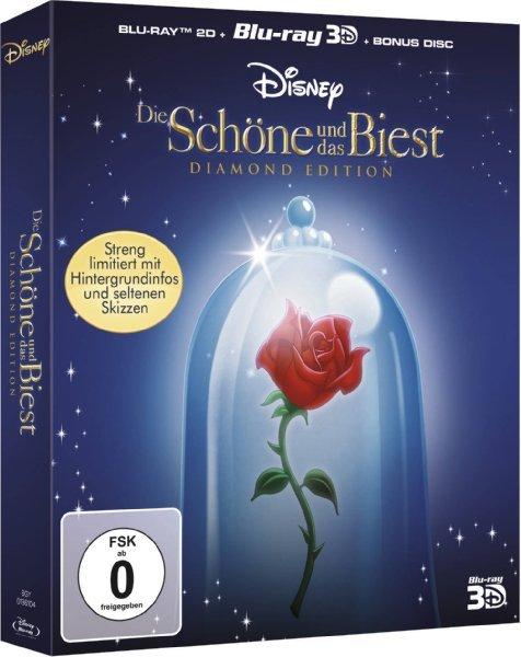 Die Schöne und das Biest - Diamond Edition (2D + 3D) (+ Bonus-Blu-ray) für 24,99 € @ Amazon.de > Prime