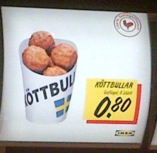 IKEA Duisburg Geflügel Köttbullar 8 Stück nur 0,80 €