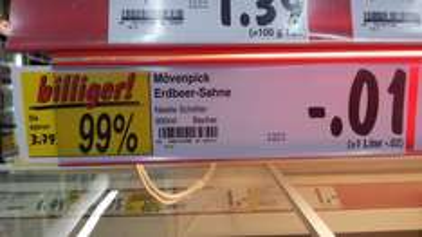 [Kaufland Berlin-Marzahn] Mövenpick Eis Erdbeer-Sahne 900ml-Becher für 0,01 EUR (99% günstiger)