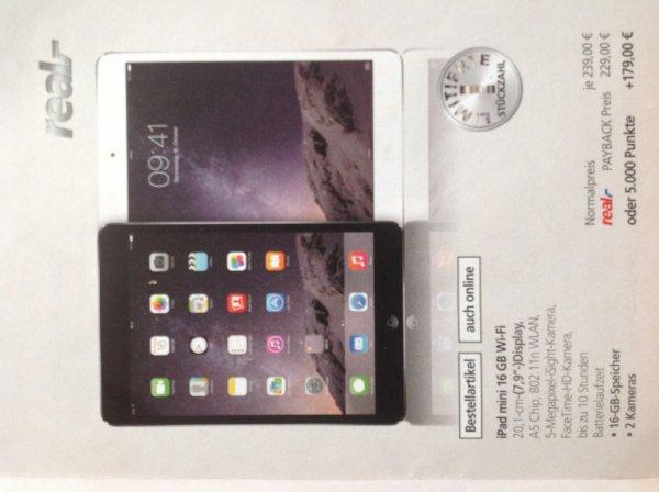 Apple iPad mini 1.Generation 16GB WIFI weiß/schwarz für 179€ + 5000 Punkte