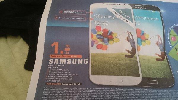 Galaxy S4 für 24€ eventuell Preisfehler Saturn Saarbrücken/Trier.(Edit)Es handelt sich um einen Preisfehler.Gerätepreis 240€