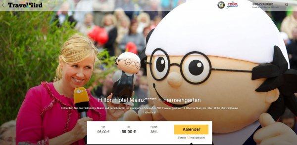 [Travelbird] Eintritt zum ZDF Fernsehgarten und Übernachtung im 5 Sterne Hotel Hilton in Mainz ab 59,- EUR/Person