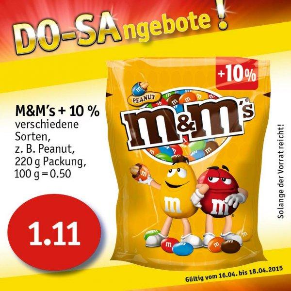 Sky-Supermärkte(Coop) M&M´s verschiedene Sorten 200g Packung (+10%) / 170g +(10%) für 1,11€ statt 2,19€ (Ab Do 16.04- Sa. 18.04)