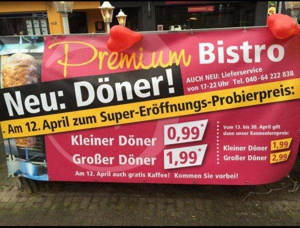 Döner für 1.99€ ! lokal Hamburg