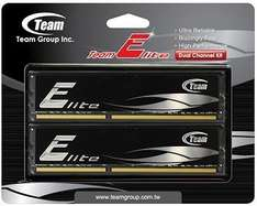 "Team Group™ - Arbeitsspeicher 8GB DIMM Kit ""Elite Black"" (PC3-10667 DDR3-1333,CL9,2x4GB) ab €46,22 [@Getgoods.de]"