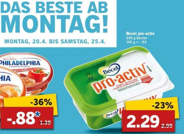 [LIDL] ab Montag 20.04. BECEL PRO-ACTIV im Angebot 2,29 EUR + Coupon  =  0,00 EUR