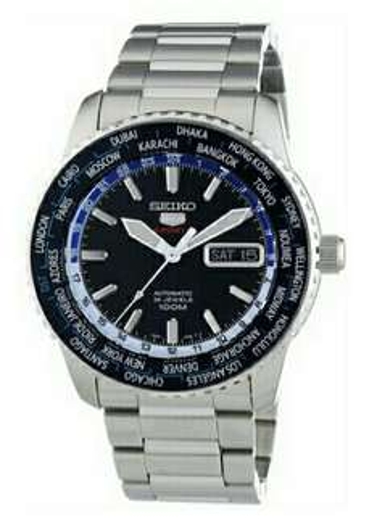 [Amazon.fr] Seiko 5 Sports Herren-Armbanduhr XL Analog Automatik Edelstahl SRP125K1für 126,27 €