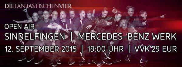 [Eventim]Die Fantastischen Vier & special guest Open Air im Mercedes-Benz Werk Sindelfingen 12. Sept