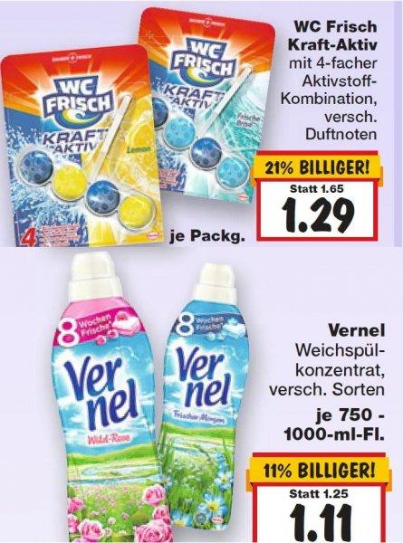 [KAUFLAND] Vernel ab 0,55 EUR und 2 x WC Frisch für 1,88 EUR (20.-25.04.)