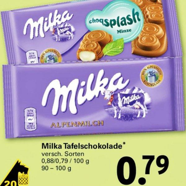 7 Tafeln Milka Schokolade für 3,53€ damit pro Tafel nur 50 Cent ab Montag 20.4 [Netto mit Hund]