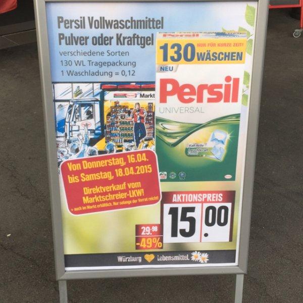 [Lokal Würzburg] Persil 130 WL für 15€ - 1WL/0,12 Cent