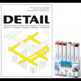 Zeitschrift: Detail - Studenten Abo - 12 Copic Marker Geschenkt
