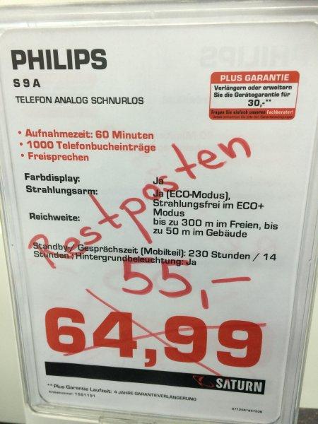 [Lokal Saturn Osnabrück] Philips S9A/34 Schnurloses Telefon mit MobileLink Bluetooth für 55,- €