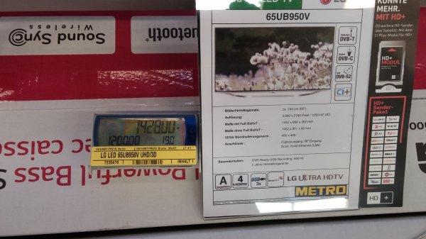 "LG 65"" UHD TV 65UB950V für 1428€ brutto @Metro"