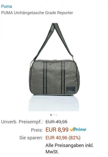 [Amazon Prime] Puma Umhängetasche Grade Reporter in der Farbe Burnt Olive