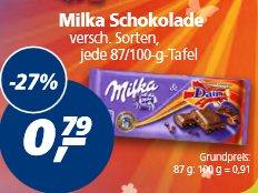 [Real Bundesweit][20.-25.04] Milka Schokolade verschiedene Sorten je 87/100g 0,50€ beim kauf von 7. Top Real Deal möglich für 0,04€ beim kauf von 8.