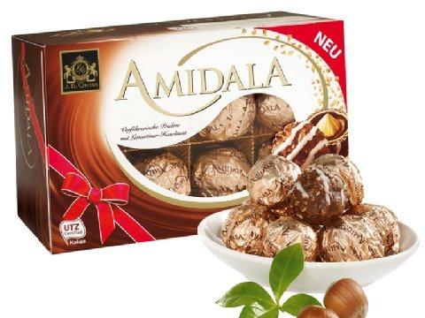 [Lidl ab 20.4.] Amidala Haselnusspralinen (16 Stück) für 1,59 Euro - 20% gespart