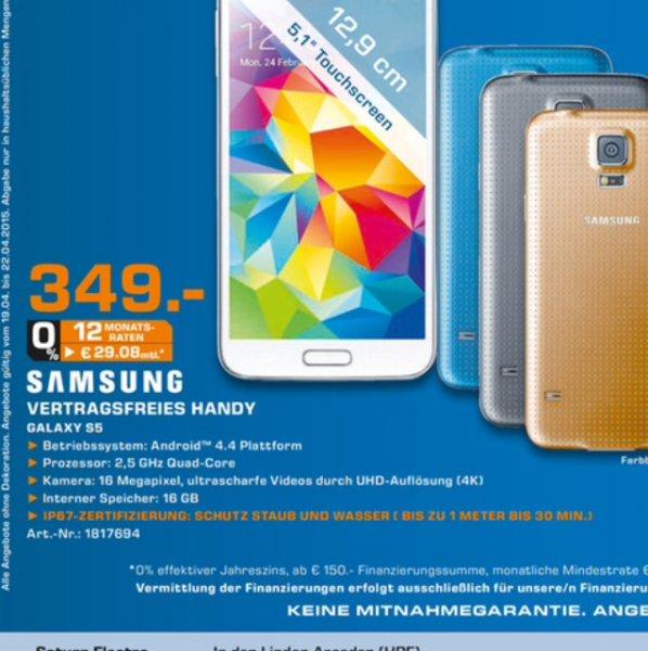 Galaxy s5 für 349,00€!