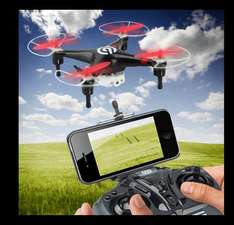 NINETEC Video Drohne Quadrocopter Live Übertragung Smartphone IOS Android WOW