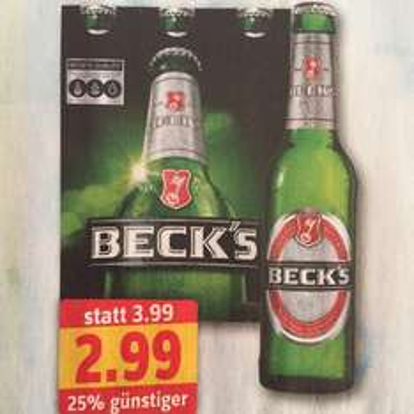 [Profi Getränke Shop] Becks Sixer 2,99€ Regional Ffm